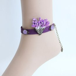 Gothic Punk PU Ankle Anklet Foot Bracelet Ladies Masquerade Wedding Party Barefoot Sandals Summer Beach Holiday Fashion Accessories