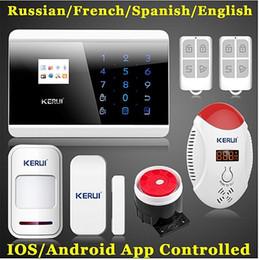 $enCountryForm.capitalKeyWord NZ - LS111- New Wireless CO sensor IOS android APP Smart Control LCD GSM Touch Display Home Secure Burglar Voice Alarm For intercom Security