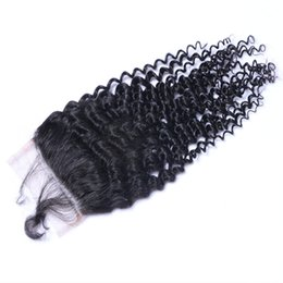 $enCountryForm.capitalKeyWord UK - High Quality Can Be Dyed Kinky Curly Human Virgin Hair Bundles Extensions Natural Color Brazilian Indian Peruvian Malaysian 4*4 Closure