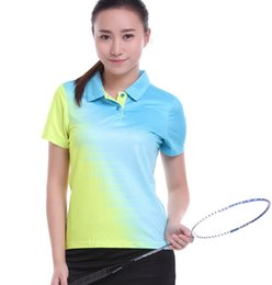 Polo Sportswear Australia - Sportswear Quick Dry Breathable Badminton Shirt Women Men Table Tennis Clothes Team Game POLO T Shirts Plus Size