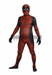 deadpool costume xxl Australia - Deadpool Costume Bodysuit Printed Spandex Lycra Zentai Costumes with 3D Muscle Shading