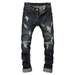 $enCountryForm.capitalKeyWord Canada - Ripped jeans for men hot sale skinny jeans size 28 to 36 slim fit mens denim trousers 2017 dark color casual hip hop men jeans