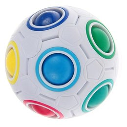 Magic Balls Puzzles Canada - Rainbow Ball Magic Cube Speed Football Fun Creative Spherical Puzzles Kids Educational Learning Toys games for Children Adult Gifts