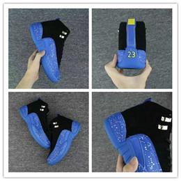 spot rivets 2019 - Wholesale 2018 Basketball Shoes New 12 XII Men Blue Black spot 12s Sneakers Mens Basket ball Trainers Sport Shoes discou