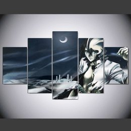 $enCountryForm.capitalKeyWord Canada - Unframed 5 Panel home decorative black and white painting Modern Art Anime Bleach Character Canvas Painting For drawing room Wall Poster