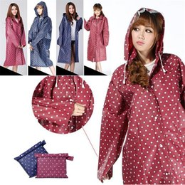 a8f1931936a 120pcs EVA Dot Environment Safety Raincoat With Hood For Men And Women  Outdoor Rainwear Waterproof Poncho Over Knee Length Rain Coat IB148
