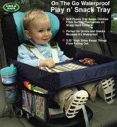 Baby Car Seat Accessories NZ - Car-styling On the go waterproof Portable Baby Kids Car Seat play n Snack Travel Tray Drawing Board Table Organizer Car Seat Cover Accessory