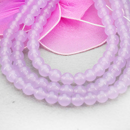 purple jasper beads NZ - Hot Sale Purple Mauve Accessories Crafts Loose Round Beads Jasper Gems Jade Stone Jewelry Making Design 15inch Women Gifts 8mm