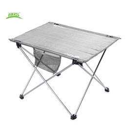 Wholesale  BRS Z33 Portable Outdoor Folding Table Oxford Fabric Ultralight  Foldable Table Anti Concave Design With Carrying Bag For Camping