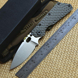 Discount titanium washers - ST outdoor gear SMF Folder Titanium handle D2 blade Copper washers Tactical Folding Knife hunting survival Knives EDC se