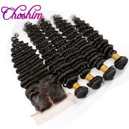 curly weave silk closure Australia - JK Hair Brazilian Remy Hair For Black Woman Silk Base Closure With 3or4 Bundles Brazilian Hair Weave Bundles Deep Curly Extensions 10A
