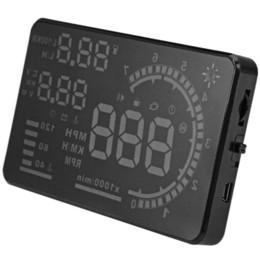 "$enCountryForm.capitalKeyWord UK - 5.5"" A8 Car HUD Head Up Display Projector Digital Light Self-adaptive Speeding Warning Fuel OBD II and EOBD Speedometers"