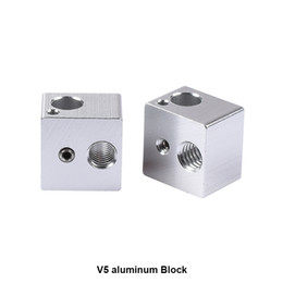 Black Blocks Canada - Freeshipping 100pcs lot 3D printer accessories all metal heating block of hot end 3D V5 black aluminum oxidation process 16 x 16 x 12mm