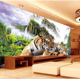 tiger murals 2021 - 3d huge mural tiger abstract painting papel de parede for bedroom sofa tv wallpaper murals wallpaper discount tiger mura