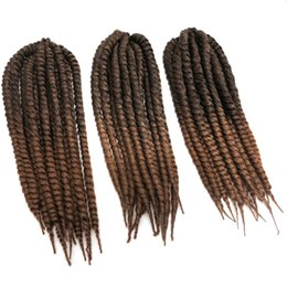 marley kinky braid hair UK - Havana Mambo Twist Crochet Braid Hair 18'' 110g Synthetic Ombre Kanekalon Kinky Marley Twists Braiding Hair Extension