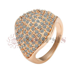 Rose Ring Austria UK - Yoursfs Fashion Rings For Women Rose Gold color Austria crystals wedding rings female Bijoux