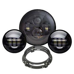 Farolillo LED Harley negro de 7