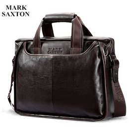 Discount cell phone commercial - Wholesale- 2017 New Fashion cowhide male commercial briefcase  Real Leather vintage men's messenger bag casual Natu