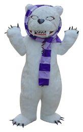 $enCountryForm.capitalKeyWord Canada - White beggar bear Mascot Costumes Cartoon Character Adult Sz 100% Real Picture 001