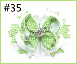 Silver diamond hair bowS online shopping - 30pcs rhinestone hair bows crystal layered hair clips diamond silver shinne popular girl hair accessories