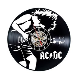 China ACDC Vinyl Wall Clock Art Gift Room Modern Home Record Vintage Decoration Party Decoration Halloween And Christmas Decorations suppliers