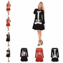 c3b5f798c48 Women Christmas Long Sleeve Printed Mini Dress Tops Party Xmas Swing Skater  Dresses 14 Styles OOA3767