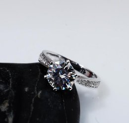 $enCountryForm.capitalKeyWord NZ - Moissanite Charm Engagement Ring F G Color 1carat Round Cut Most Brilliant 18K White Gold Wedding Rings VVS Factory Price