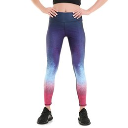 Barato Leggings De Qualidade Ao Atacado-Atacado- LOVE SPARK Novo Harajuku Galaxy Blue Pink Gradient Womens 'Winter Spring Sport Pants High Quality Elastic Jogging Leggings