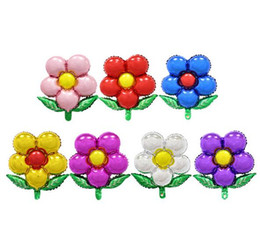 Flower Balloons Canada - Flowers aluminum balloons birthday party balloons wholesale children's toys G377