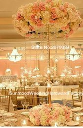 Wholesale mental stand only new style large and tall Flower Stand Wedding Table Decoration Centerpieces for wedding stage