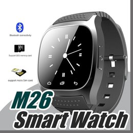 Wholesale 10X Smartwatch M26 Bluetooth Wireless Wearable Device Smart Watch for Andriod mobile phone Sport Watch with Retail Box G BS