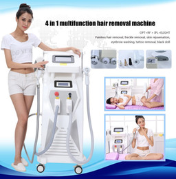 Ipl e lIght tattoo removal online shopping - 4in1 OPT E light IPL RF YAG laser Hair Tattoo Removal Multi Function Beauty Machine for Multi Treatments