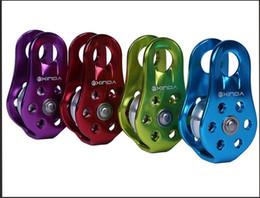 XINDA XD-8610 Klettern Riemenscheiben Seilrolle für 13mm Seil Rettung Hebe Aluminium Seilrolle 20KN Klettern Ausrüstung Großhandel
