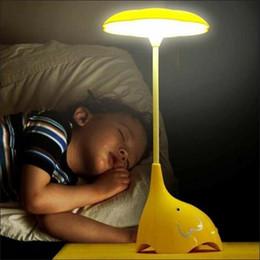 kids battery lamps 2019 - Kids Children Room LED Night Lights Lamp Baby Bedroom Lamparas Novelty Products Elephant Light Charging Battery Sensor L