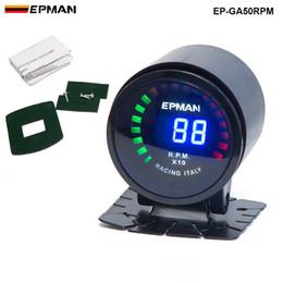 """TANSKY - ¡NUEVO! Epman Racing 2 """"52mm Color Digital Digital Analógico RPM TACHO TACHÓMETRO CALGO METER CON SOPORTE EP-GA50RPM en venta"""