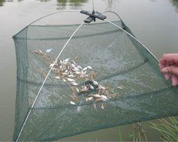 Bait Cast Net NZ - 60*60cm Fishing Net Foldable Folding Mesh Nylon Fishing Net Baits Trap Cast Dip Crab Shrimp Net