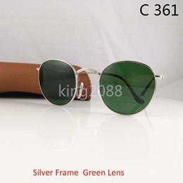 f80ac0cf628c3 Hot Top Quality das Mulheres dos homens de Liga de Óculos De Sol Retro  Rodada Óculos de Armação De Ouro Lente De Vidro Preto Óculos de Sol 50mm  Com Marrom ...
