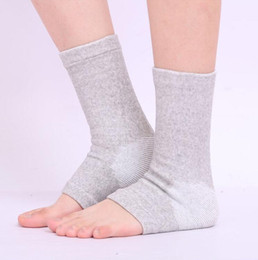 Barato Meias De Tornozelo-Atacado - 10pcs / lot New Bamboo Charcoal Ankle Socks Thermal Tobogã Suporte Cuidados Frío-prova Anti Sprain Ankle Brace Meias 4-Way Stretch Ankl