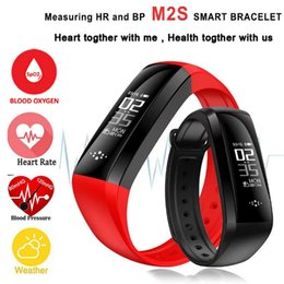 Regarder Oxymètre Pas Cher-M2S Smart Band Heart Rate Oxymètre de pression artérielle Bracelet sport Fitness Watch Smartband Pulse pour iOS Android