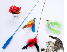 $enCountryForm.capitalKeyWord Australia - Fun Cat Sticks Pet Toys Cat Toys Funny Cat Teaser Sets Combination Rods With 3 Replacements Pet Products Dog Nice Feather Teaser