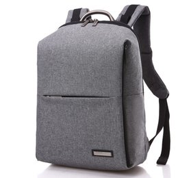 $enCountryForm.capitalKeyWord UK - Fashion Unique Man Backpack School Backbag Square Men Backpack 14 inch Women Laptop Bag Computer