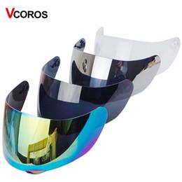 Helmet Lenses Canada - Vcoros replacement full face helmet shield for AGV K3 SV K5 full face motorcycle helmet 4 color Tinted silver black clear lens