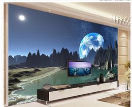 backdrop fantasy 2019 - custom 3d wallpaper A magical view of the sky fantasy world living room TV backdrop mural 3d wallpaper cheap backdrop fa