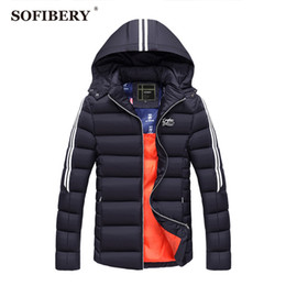 men s corduroy jacket Canada - Wholesale- SOFIBERY Coats New Men's Coats & Jackets Down & Parkas winter brand Men's jacket men coat thick overcoat 2XL 3XL JOB-ZH1628