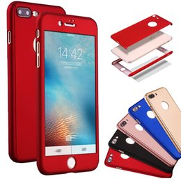 $enCountryForm.capitalKeyWord NZ - 360 Degree Full Coverage Hard PC Case For Iphone X 8 Plus 7 6 6S Plus 5S SE 5 With Screen Protector Back Cover With Hole MOQ:10pcs Free Ship