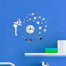 $enCountryForm.capitalKeyWord Australia - fashion 3D mirror wall stickers round clock Creative Home Decor DIY fairy starr Carved bedroom Removable Decoration Stickers 2017 wholesale