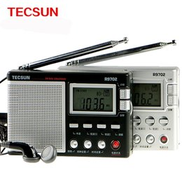 Sw Pack Australia - Wholesale-Original TECSUN R-9702 FM MW SW Dual Conversion World Band Radio Receiver Built-In Speaker DSP Radio Colock Speaker Stereo Radio