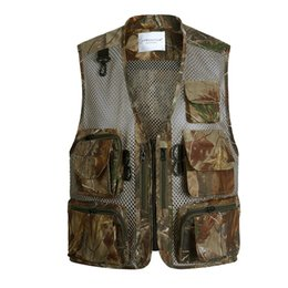 photographers mesh vests NZ - Summer Mesh Men Vest With Many Pockets Sleeveless Photographer Vest Male Clothes
