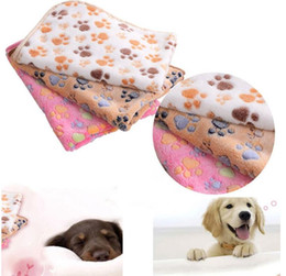 $enCountryForm.capitalKeyWord Canada - New Arrival 40*60cm Double-sided Fleece Lovely Pet Small Large Warm Paw Print Dog Puppy Cat Fleece Soft Blanket Beds Mat Dog Supplies