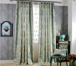 High Quality European Knitted Jacquard Half Blackout Rate Window Blackout  Curtain For Living Room Bedroom 3 Colors Wholesale Fabric Price